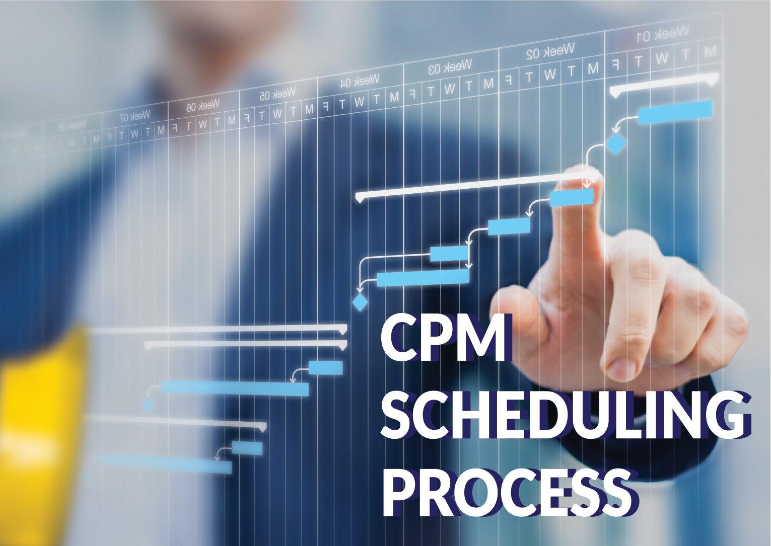 CPM scheduling process-100